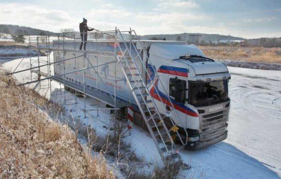 odladzanie ciężarówki