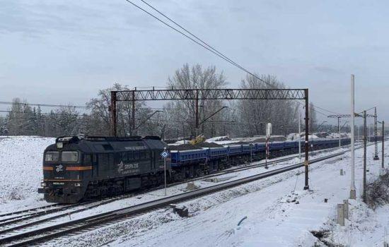 Pociąg ZUE na węglówce